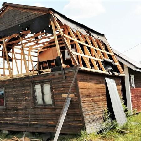 Демонтаж части дома
