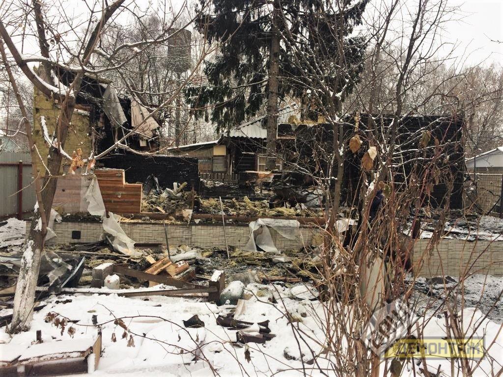 Демонтаж дома после пожара, Раменский район 02