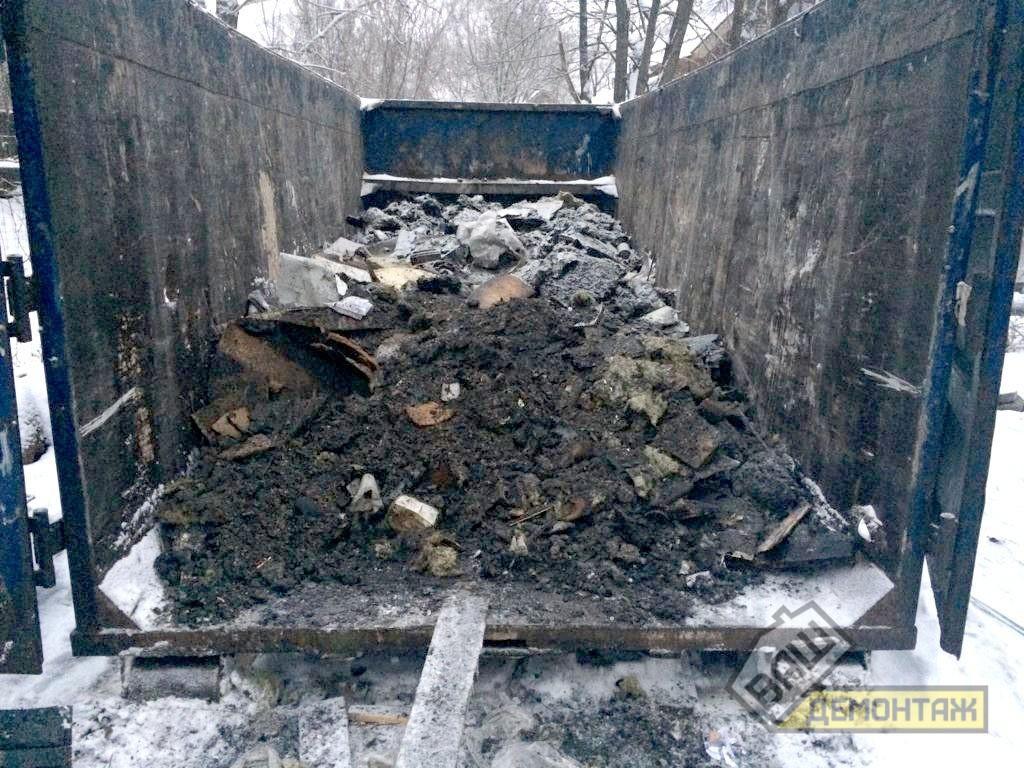 Демонтаж дома после пожара, Раменский район 06