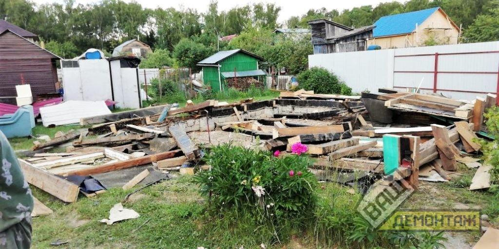 Демонтаж каркасного дома 03