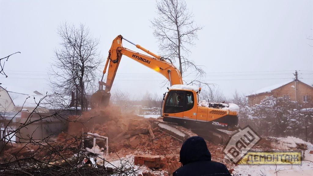 Демонтаж кирпичного дома 01