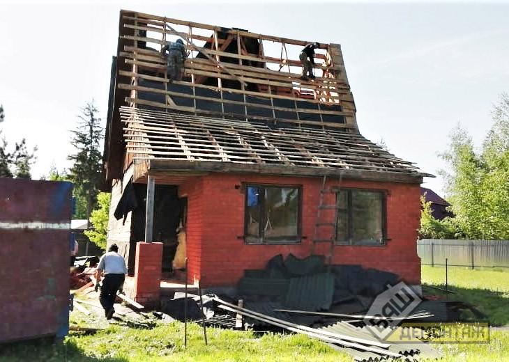 Демонтаж загородного дома 02