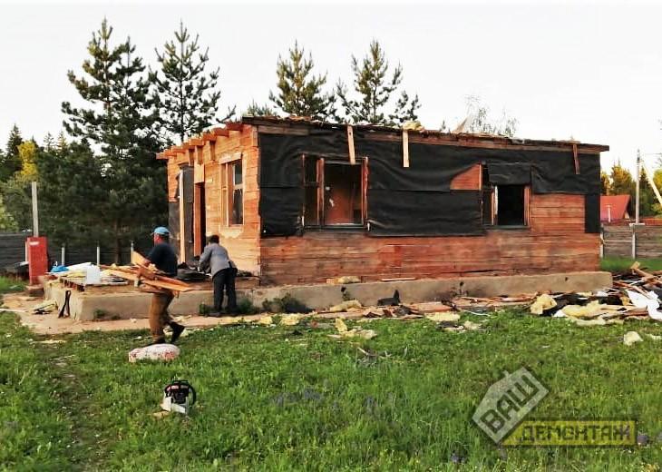 Демонтаж загородного дома 03