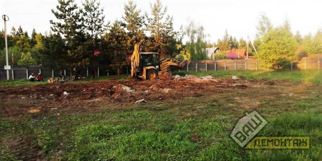 Расчистка участка под строительство 04