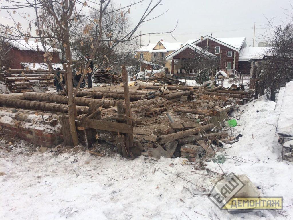 Сколько стоит снос старого деревянного дома. Пушкинский район 05